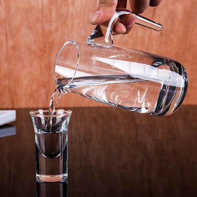 紅酒杯 水晶玻璃白酒分酒器 紅酒醒酒器分酒壺帶刻度紅酒白酒壺洋酒公杯