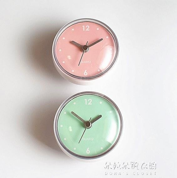 吸盤鐘浴室鐘廚房時鐘掛鐘 衛生間吸墻貼玻璃鐘錶 【摩登街頭】
