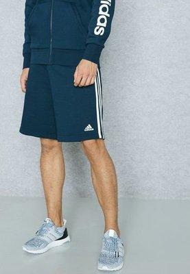 【吉米.tw】ADIDAS 3-STRIPES SHORTS 愛迪達 深藍 三線 藍 慢跑褲 短褲 BP5467 AUG