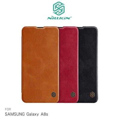 --庫米--NILLKIN SAMSUNG Galaxy A8s 秦系列皮套 側翻皮套 可插卡 超薄皮套 保護殼