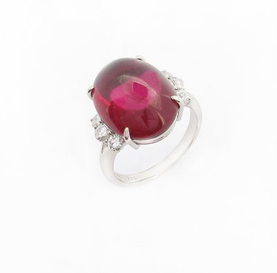 【JHT 金宏總珠寶/GIA鑽石專賣】12.85ct天然碧璽戒指/材質:PT900(JB47-A19)