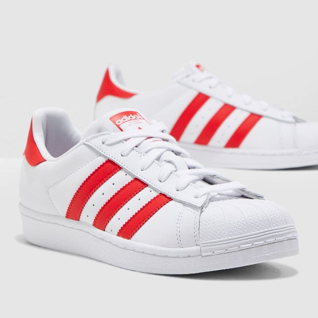 Washoes adidas Originals SUPERSTAR W 白 紅 CM8413 貝殼頭 眼睛 女鞋04