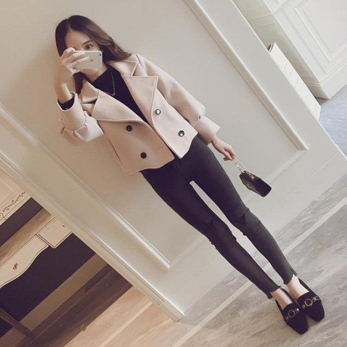短款毛呢外套女2018冬裝新款潮修身學生韓版加厚寬松呢子大衣外套