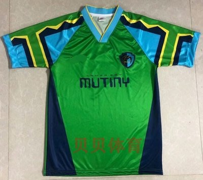 正品球衣~96-97坦帕灣穆特尼復古球衣Tampa Bay Mutiny拉西特 經典足球服