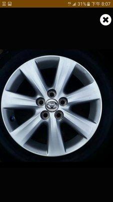 Toyota altis wish 15吋原廠鋁圈加輪胎195 65 15 五孔100