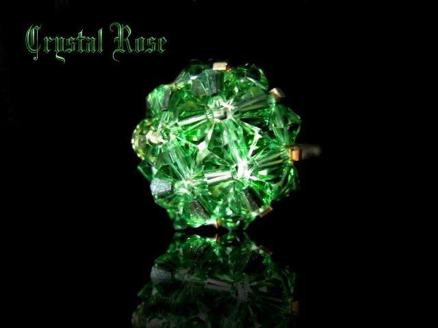 ※水晶玫瑰※ SWAROVSKI 水晶戒指~翠綠(HAND11)