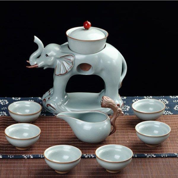 5Cgo【茗道】含稅會員有優惠  537812076608 馬到成功萬象更新自動功夫茶具套裝汝窯開片瑪瑙釉懶人泡茶器茶杯