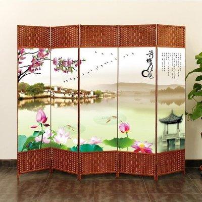 ZIHOPE 訂製 屏風隔斷簡易折疊客廳玄關墻移動折屏現代簡約時尚辦公室實木中式ZI812