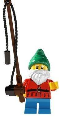 絕版品【LEGO 樂高】玩具 積木/ Minifigures人偶包系列: 4代 8804 單一人偶: 釣魚老翁 漁夫