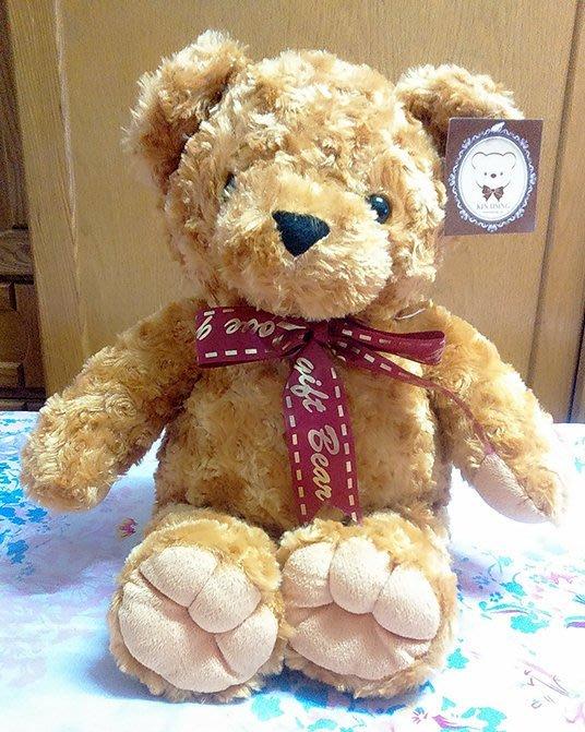 {欣娃小舖}~熊造型 領結熊 玩偶 絨毛娃娃(45cm)