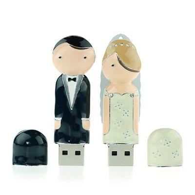 婚禮小物 新娘、新郎造型隨身碟(16G) - 造型隨身碟 結婚禮物 禮品 禮贈品 創意商品 客製化商品
