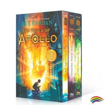 阿波羅的試煉三本套裝 英文原版奇幻小說The Trials of Apollo 3-Book Boxed Sett平裝 太陽神的試煉 青少年冒險小說瑞克·瑞奧丹