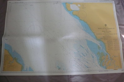 藍色小館46-1-DEPTHS IN METRES航海圖-KEPULAUAN SEMBILAN TO PORTKLANG