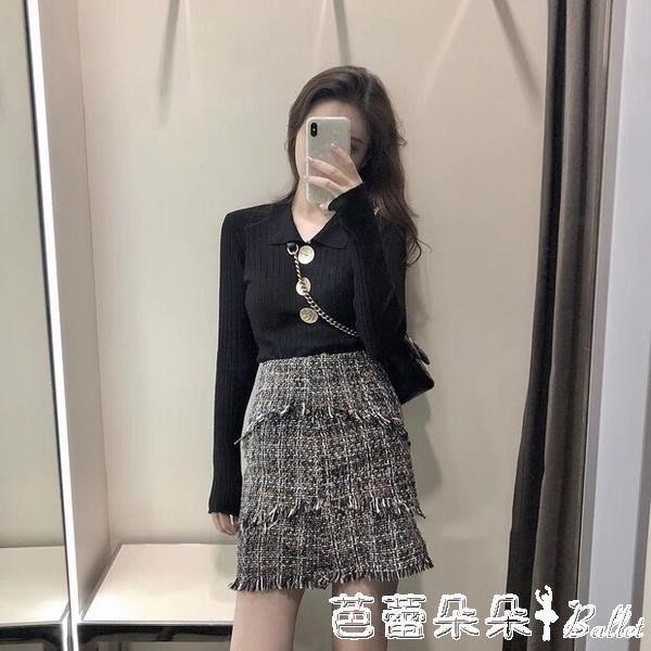 小香風套裝女輕熟風秋冬季新款洋氣針織毛衣半身裙氣質兩件套 YXSH
