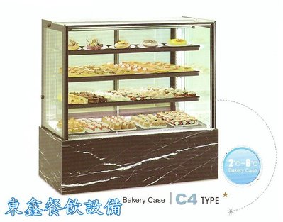 ~~東鑫餐飲設備~~C4 拉高型直角蛋糕櫃 / 4角玻璃後開門展示櫃 / 蛋糕冷藏展示櫥