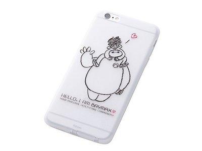 尼德斯Nydus~* 日本迪士尼 大英雄天團 Baymax 杯麵 軟殼 手機殼 5.5吋 iPhone6+ Hello款