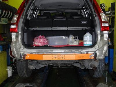 {順加輪胎}SUMMIT 4代CRV 合金鋼後保桿強化桿 另有前下井 後下兩點 引擎室拉桿 後防傾桿 仰角調整器 三角架