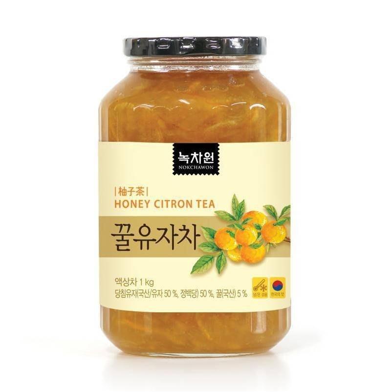 韓國綠茶園蜂蜜柚子茶1Kg[KR334191]健康本味