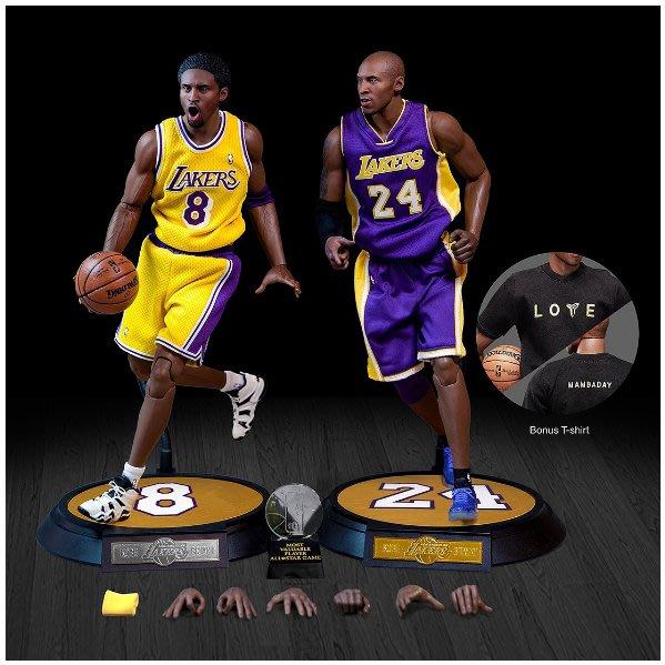 BEETLE ENTERBAY NBA 1/6 12吋 KOBE BRYANT 科比布萊恩 黑曼巴 可動 人偶公仔