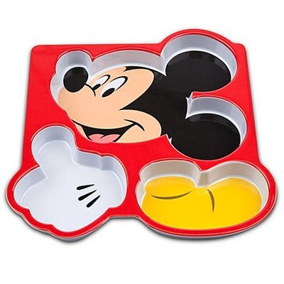 美國代購disney米奇兒童餐具/餐盤/餐墊/餐具3件組