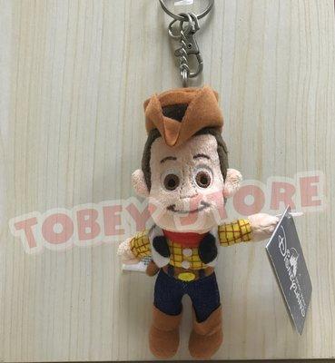香港迪士尼 玩具總動員 胡迪 絨毛娃娃鑰匙圈