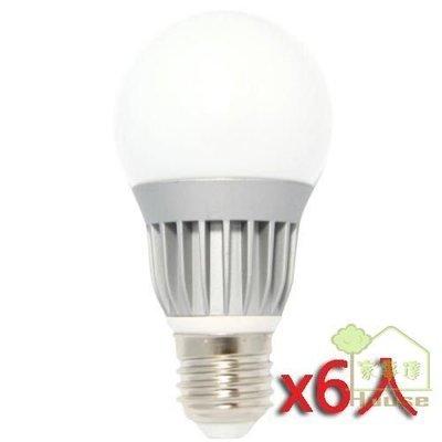 [家事達] 綠視界 7W 全周光(270度)LED節能燈泡(EBB-1)六入組   特價