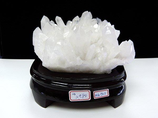 ☆寶峻鹽燈☆新貨到~白水晶簇/白晶柱 原礦 淨化手珠,代表平衡與美滿 WQ-702 供佛、避邪、擋剎、鎮宅