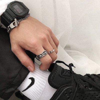 戒指 SAZ 日潮小眾個性設計鈦鋼戒指簡約百搭復古指環原創圖案食指環男 時尚搬運工