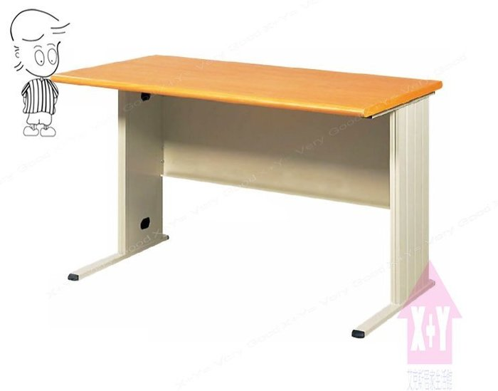 【X+Y時尚精品傢俱】OA辦公桌系列- 木紋檯面TH-100辦公桌空桌.職員桌.台南市OA辦公家具
