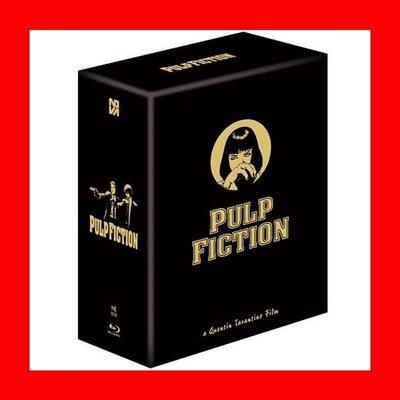 【BD藍光】黑色追緝令:3合1鐵盒限量禮盒版(台灣繁中字幕)Pulp Fiction追殺比爾霸道橫行導演變臉主角
