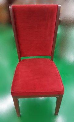 台中二手家具店 宏品全新中古傢俱 F20112紅色布餐椅 美容椅* 休閒椅 書桌椅 辦公椅 2手桌椅拍賣