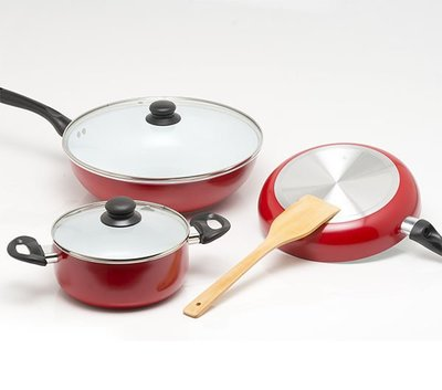 《固鋼》白陶瓷不沾平煎鍋&湯鍋(二擇一)│不沾鍋│耐磨│均勻導熱