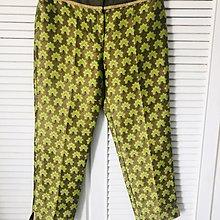 原價四萬五千元 ALBERTA FERRETTI 綠色刺繡七分褲
