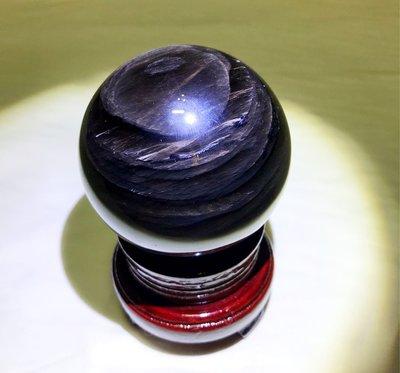 【收藏家】頂級天然黑曜石球 黑曜球擺件 內千層帶眼 72mm/560g
