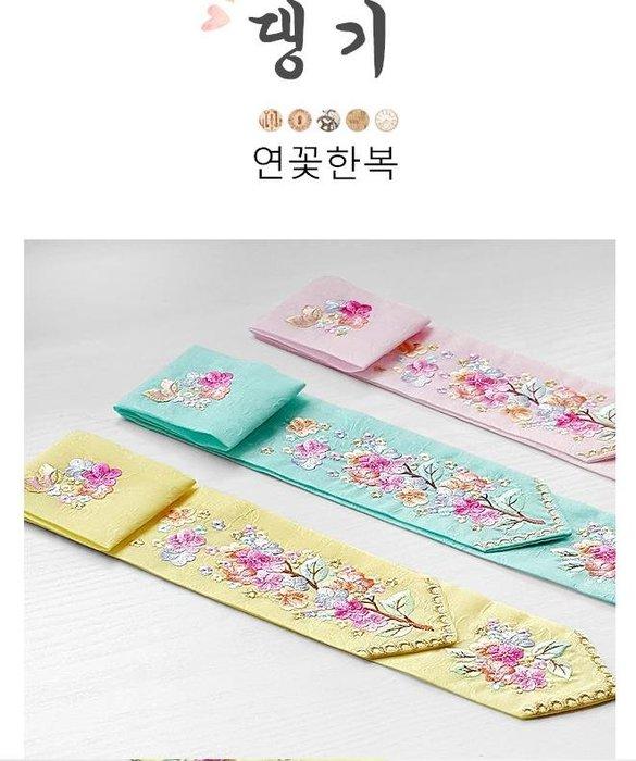 紫滕戀推出韓國韓服頭繩/繡花髮帶  韓服頭飾繡花  共三色