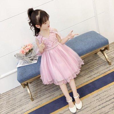 童裝女童洋裝夏裝夏季韓版洋氣蓬蓬紗裙兒童公主裙子潮 韓語空間
