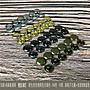50組- 純黃銅/ 銅質 4色【4*4mm 雙面固定釦 撞...