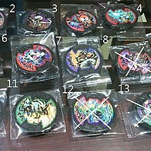 BANDAI 妖怪手錶--妖怪徽章-U錶專用黑章-閃章1枚80元-日版必殺技(支援3DS)