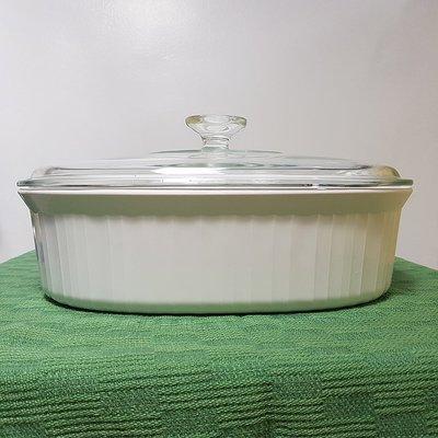 康寧Corningware 純白色長方橢圓形湯鍋 花蓮縣
