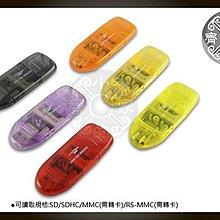 小齊的家 高速SD/MINI SD/RS MMC/T-FLASH讀卡機USB2.0支援VISTA,SDHC,歡迎批發,RD-01