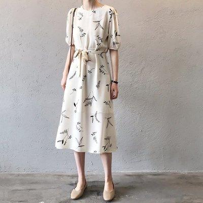 優雅燈籠袖雪紡繫帶連身裙另有蕾絲袖洋裝...