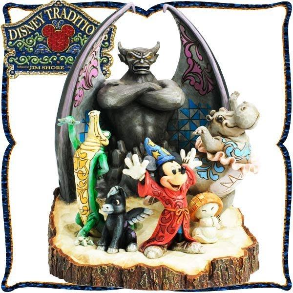 ♥心樂格格♥♫Disney Traditions  迪士尼 [米老鼠 幻想曲 木雕風景品 模型 禮品]全新美版稀有品~