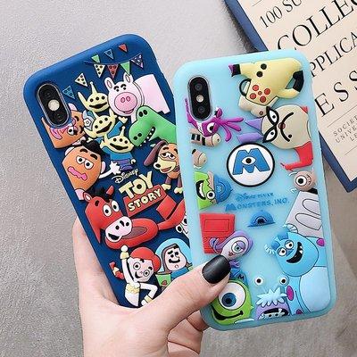 手機殼蘋果透明卡通圖案日本原單迪士尼iphone8plus硅膠情侶手機殼蘋果X保護套7p可愛卡通6S風7潮牌iphone