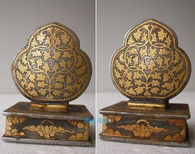 迷收藏…西藏 18th 鐵剪金大印