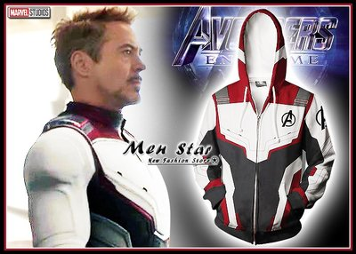 【Men Star】免運費 復仇者聯盟 4 彈力運動外套 連帽外套 marvel 男 媲美 極度乾燥 ua reebok