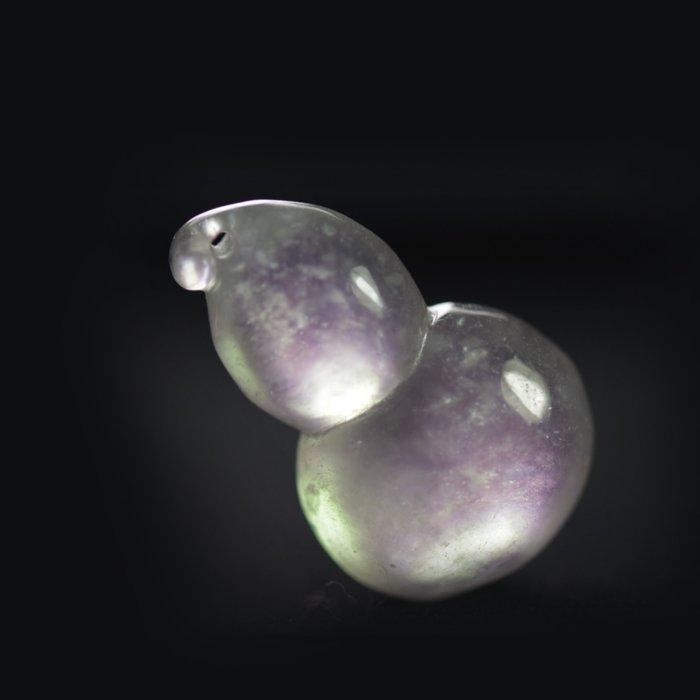 【球肚】晶鑽小墜【紀孝莊】092017  冰種玻璃翠放光白翡墜  3.1x1.9x1.2cm  重11g