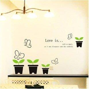 小妮子的家@花盆2壁貼/玻璃貼/磁磚貼/家具貼