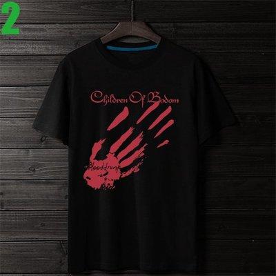 Children Of Bodom【死神之子】短袖重金屬搖滾樂團T恤(共5種顏色可選) 新款上市購買多件多優惠【賣場二】