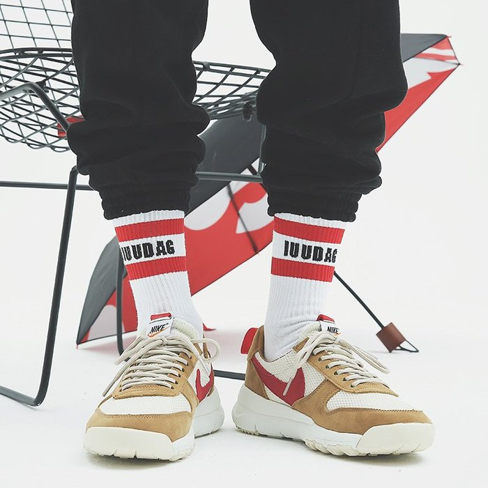 韓國韓系韓版韓風 日系街頭潮流INS原宿風二杠條紋字母運動中筒襪子棉嘻哈男女滑板長襪
