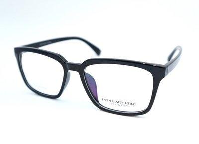 {都會眼鏡} POPULA FRONT 亞洲版 簡約黑大鏡面光學眼鏡 TR90輕彈性素材 耐高溫不易變形
